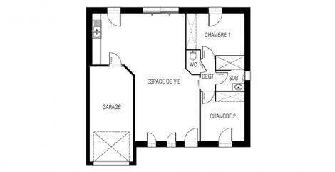 maison optimiste plan 2D maisons d'en france atlantique