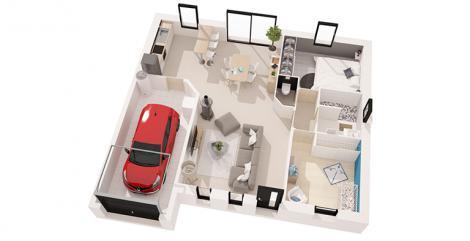 maison optimiste plan 3D maisons d'en france atlantique