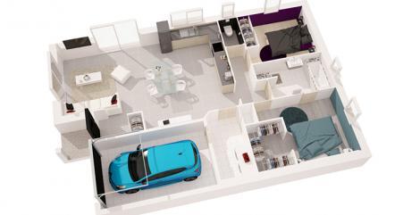 maison sitiha plan 3D  maisons d'en france atlantique