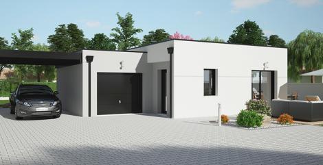 maison maloja avant toit plat Maisons d'en france Atlantique