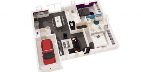 maison Atlantique plan 3D maisons d'en france atlantique