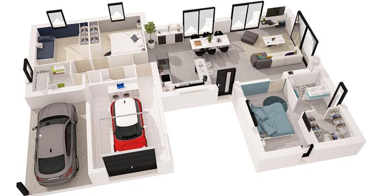 Cheap maison paraos plan d maisons duen france atlantique for Site 3d maison