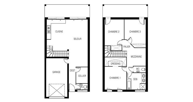 maison Nephtis plan 2D Maisons d'en france Atlantique