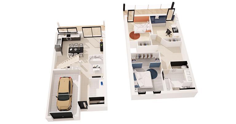 maison Nephtis plan 3D Maisons d'en france Atlantique
