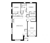 maison sitiha plan 2D  maisons d'en france atlantique