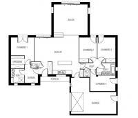 maison Kalice plan 2D Maisons d'en france Atlantique