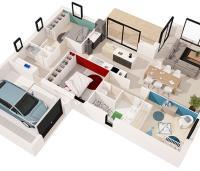 maison Kalie plan 3D Maisons d'en france Atlantique