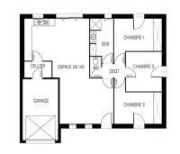 maison Atlantique plan 2D maisons d'en france atlantique