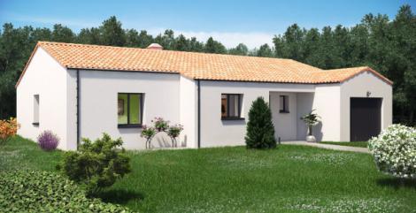 Maison plain-pied Levant avant | Constructeur 85, 79, 17 Maisons d'en France Atlantique