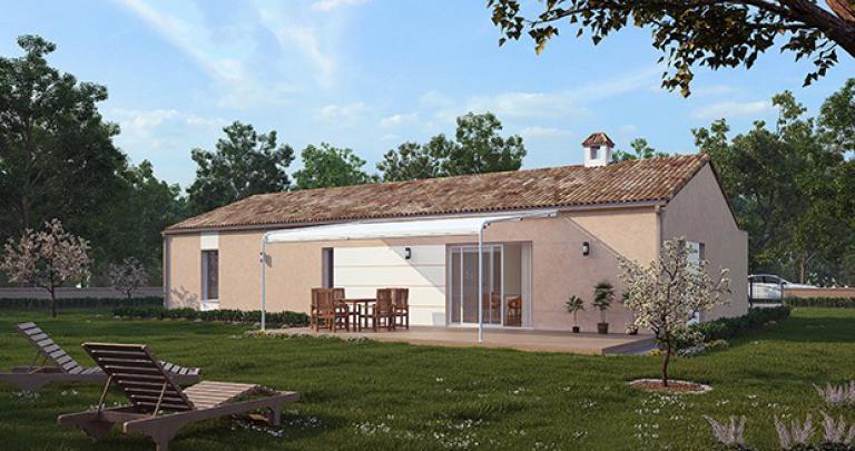 maison plain-pied Bagala arrière Maisons d'en france atlantique