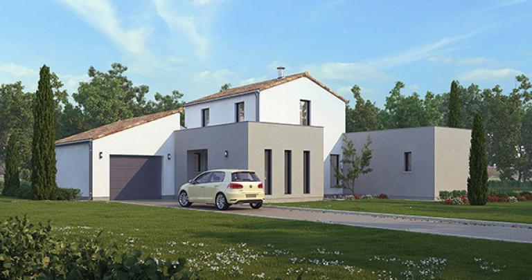 maison contemporaine Frégate avant maisons d'en france atlantique