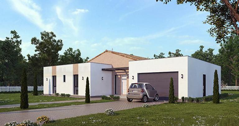 Maison contemporaine Jonque avant | Maisons d'en France Atlantique