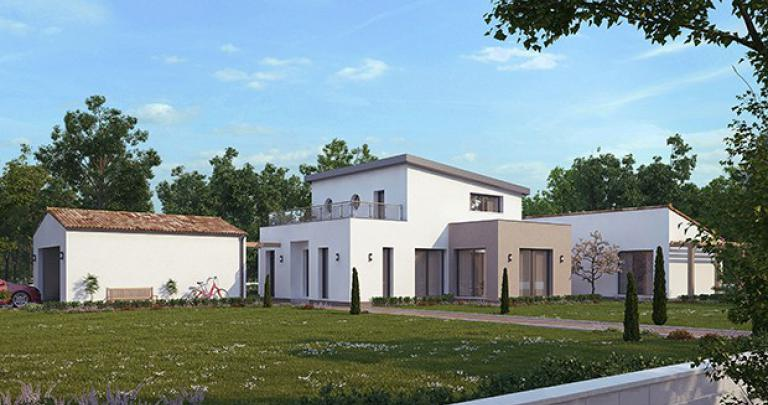 Constructeur Maisons d'en France Atlantique | Maison contemporaine plain-pied