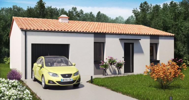 Maison plain-pied moderne | Constructeur 85,17,79 Maisons d'en france Atlantique