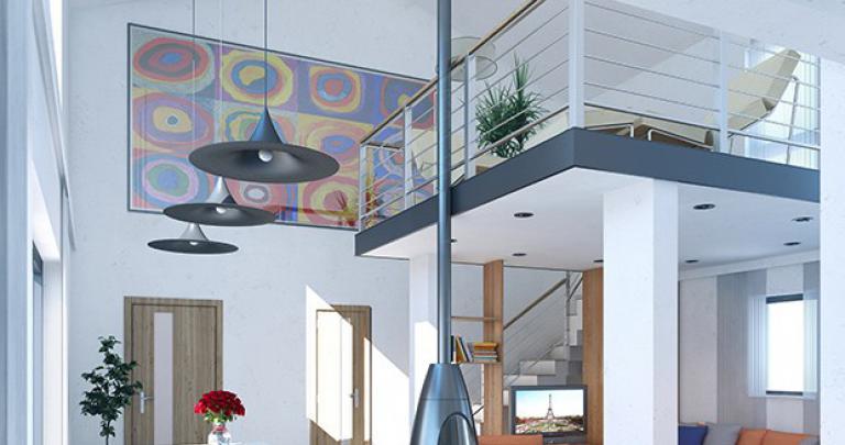Maison à étage moderne Yole arrière | Maisons d'en France Atlantique
