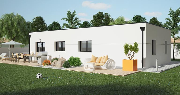 Maison Maloja plain-pied forme cubique | Constructeur 85,17,79