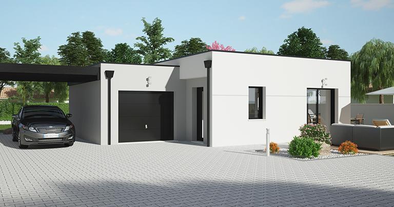 Maison Maloja plain-pied toit plat | Constructeur 85,17,79