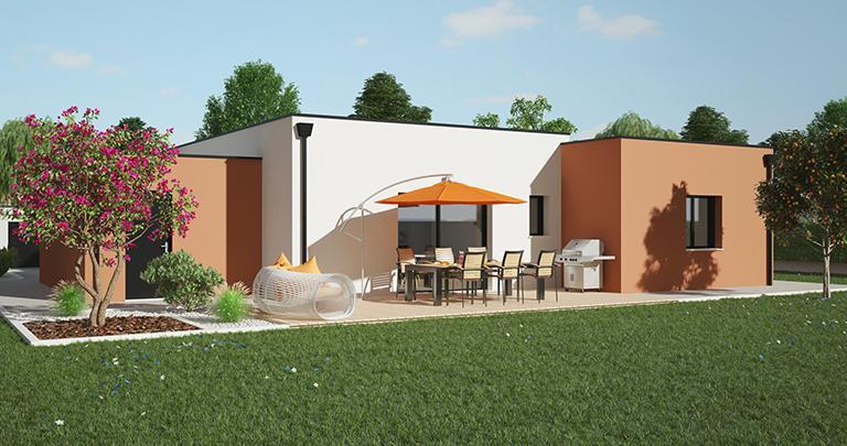 Maison contemporaine plain-pied personnalisable | Constructeur Maisons d'en France Atlantique