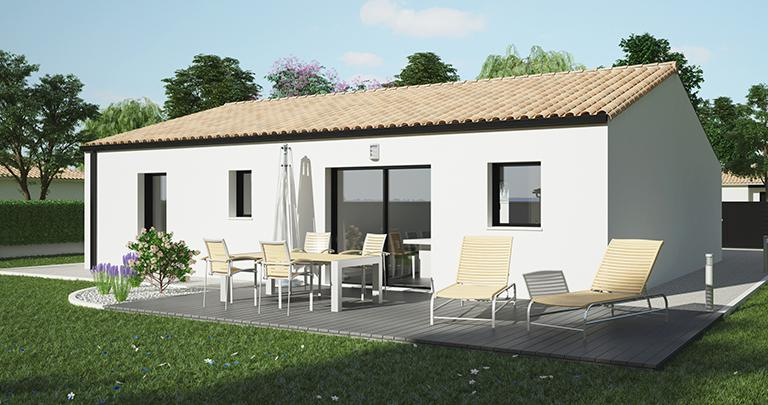 Constructeur maison neuve Loire Atlantique | Maison plain-pied Atlantique 3 chambres