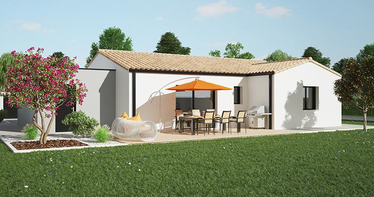 Maison moderne Tramontane jardin | Constructeur Maisons d'en France Atlantique