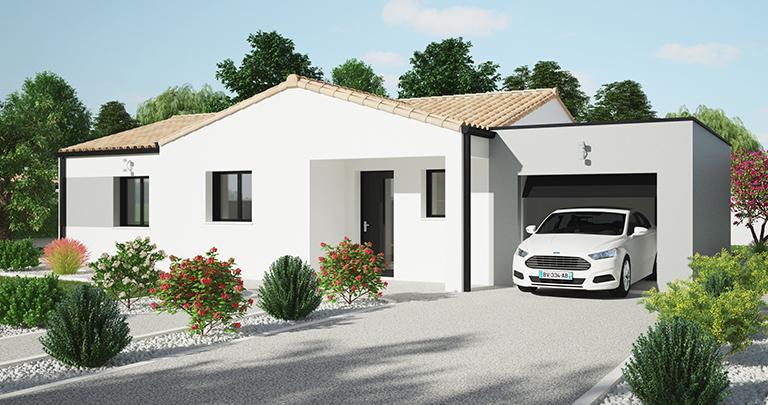 Maison moderne Tramontane personnalisable | Constructeur Maisons d'en France Atlantique