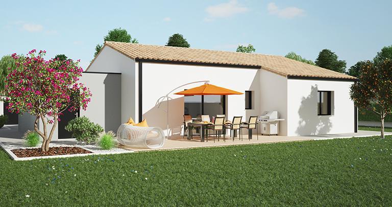 Maison moderne Tramontane arrière | Constructeur Maisons d'en France Atlantique