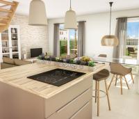espace de vie familiale maisons neuve royan cuisine séjour
