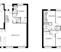 maison Célès plan 2D maisons d'en france atlantique