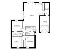 Maison Catalan moderne plan 2D | Constructeur Maisons d'en France Atlantique