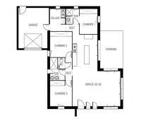 maison moderne Kalie plan 2D Maisons d'en france Atlantique