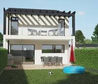 Maison Nephtis contemporaine à étage façade arrière | Maisons d'en France Atlantique