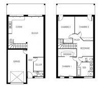 Maison Nephtis contemporaine à étage plan 2D | Maisons d'en France Atlantique