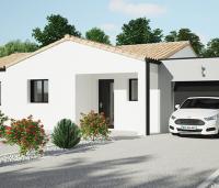 Maison moderne de plain-pied Tivano avant | Maisons d'en France Atlantique