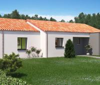 Maison plain-pied Levant arrière | Constructeur 85, 79, 17 Maisons d'en France Atlantique