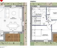 plan entier maison avec étage